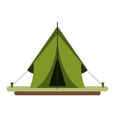 tent equipment camping activities vector image