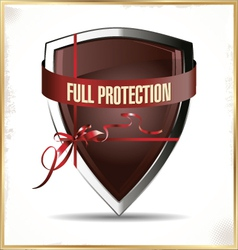 Full protected shield vector