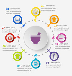 infographic template with kitchen icons vector image vector image