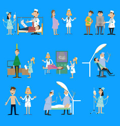 set on the theme of health vector image vector image
