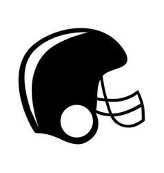 black silhouette american football helmet vector image