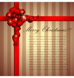 Christmas message vector image