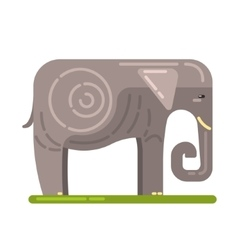 Domesticated grey elephant famous traditional vector