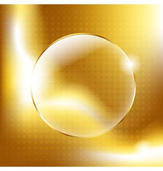 Gold Background With Gold Glass Balls vector image vector image