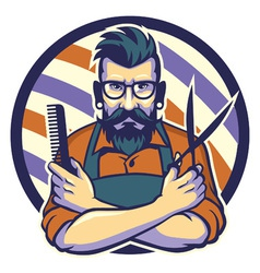 hairstylist vector image