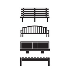 park benches icons set vector image vector image