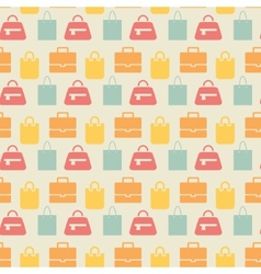 Sale background with shopping bags pattern vector image