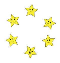 Stars emoticons vector image vector image