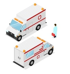 Ambulance Emergency Medical Car Isometric View vector image vector image