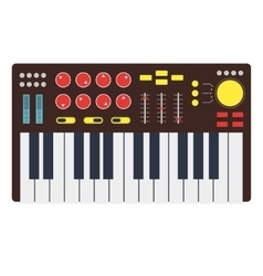 Cartoon Synth or Music Keyboard vector image