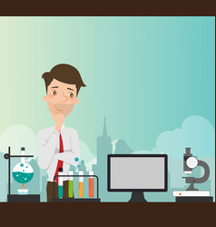 man thinking about education vector image