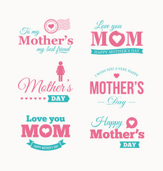 mothers-day-logo-set vector image