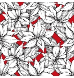 seamless poistella pattern vector image
