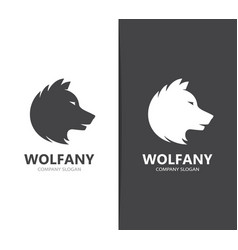 wolf and predator logo combination vector image