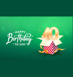 40 years anniversary banner template forty vector