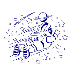 Astronaut and stars vector