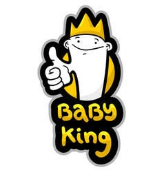 baby king vector image