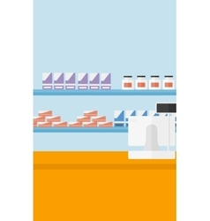 Background of pharmacy with cash box vector