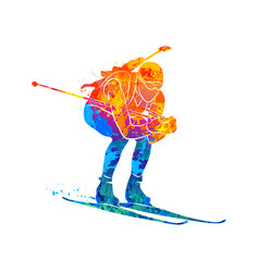 Biathlon abstract sport vector