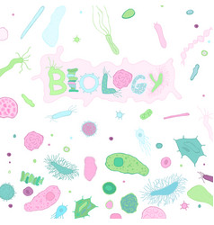 biological creative background vector image