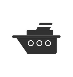 Black icon on white background ship silhouette vector