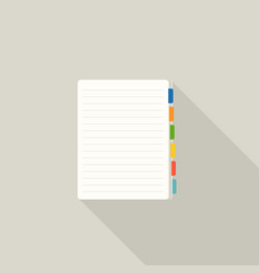 blank note paper with colorful tags bookmark icon vector image