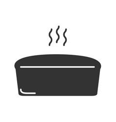 Brick bread loaf glyph icon vector