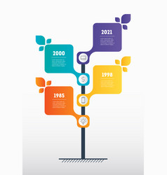 Business presentation concept with 4 options vector