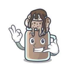 call me milkshake mascot cartoon style vector image