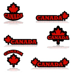 Canada buttons vector image vector image