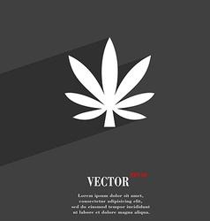 Cannabis leaf icon symbol Flat modern web design vector