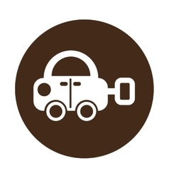 Car baby toy isolated icon vector