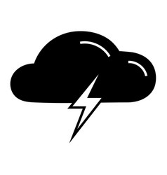 cloud light bolt icon simple style vector image