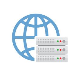 cloud server icon vector image