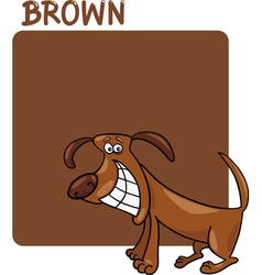 Color Brown and Dog Cartoon vector