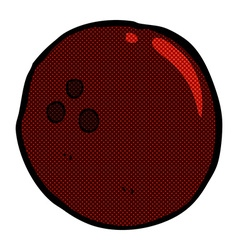 Comic cartoon bowling ball vector