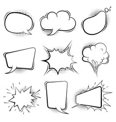 comic speech bubbles retro cartoon balloon vector image