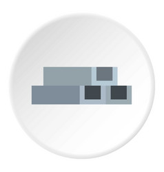 concrete or metal constructions icon circle vector image