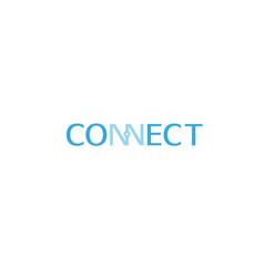 connection typography logo symbol design vector vector image