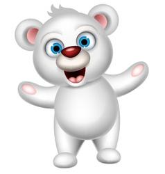 Cute polar bear posing vector