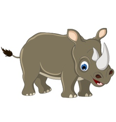 cute rhino cartoon vector image