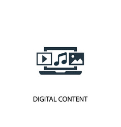 Digital content icon simple element vector