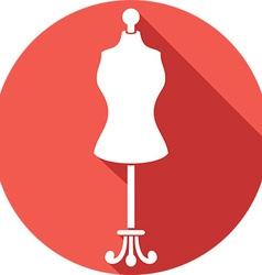 Dressmaker Mannequin Icon vector