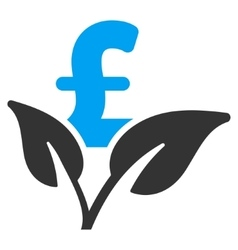 Eco Pound Business Startup Flat Icon Symbol vector