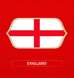 Flag of england is made in football style vector