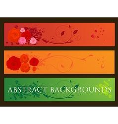 Floral Background Banner Set vector