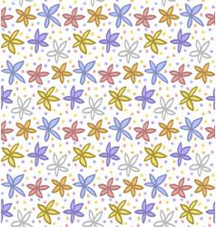 floral elements pattern vector image