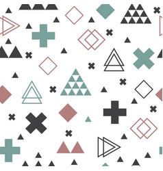 geometric scandinavian seamless pattern textile vector image