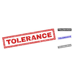 Grunge tolerance scratched rectangle watermarks vector