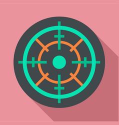 gun target icon flat style vector image